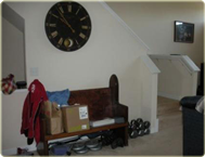 Entry space before home staging