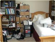 Bedroom before home staging