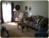 Living room after home staging